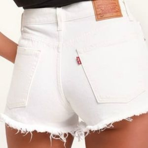 Rare Levi's 550 Vintage White Distressed Shorts